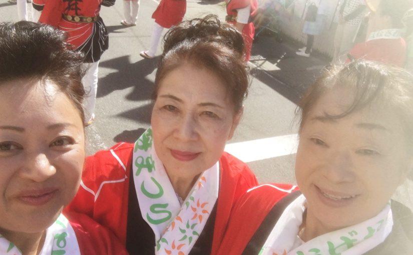 友好姉妹都市・尾花沢市、花笠まつりのパレードに参加してきました