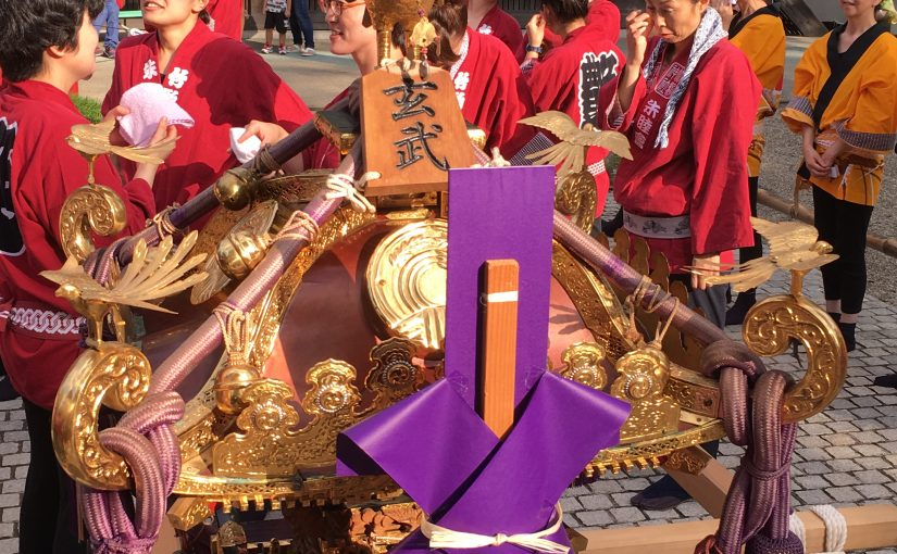 岩沼神社秋まつり、神輿の奉賛をいたしました