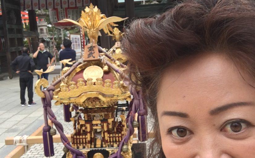 岩沼竹駒神社秋まつり神輿組立作業でした